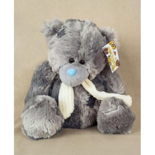 Мишка Тедди - серый в шарфе