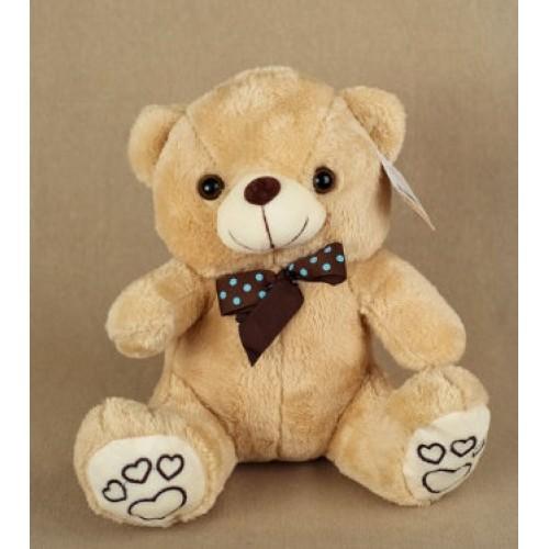 Мягкая игрушка Медведь с бантом в горошек