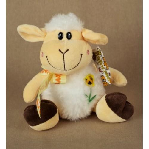 Мягкая игрушка Овечка с цветком