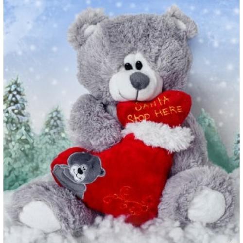 Мягкая игрушка Санта c мешочком