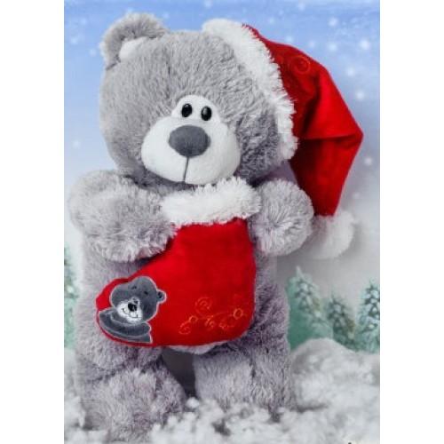 Мягкая игрушка Санта в колпаке